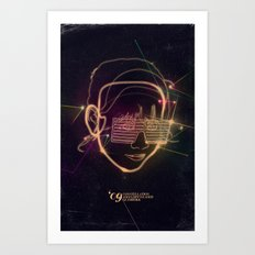 Asian Disco Laser Art Print