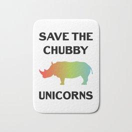 Save The Chubby Unicorns Funny Vintage Retro Rhino Shirt Gift Bath Mat