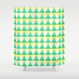 Trees and Lights Pattern Shower Curtain