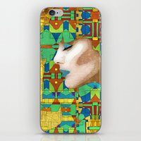 nouveau iPhone & iPod Skins featuring Nouveau Girl by Steve W Schwartz Art