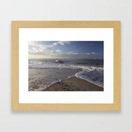 Wave Split on the Beach Framed Art Print