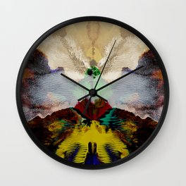 the peacock and the crane Wall Clock