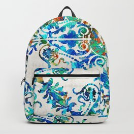 Colorful Pattern Art - Color Fusion Design 6 By Sharon Cummings Backpack