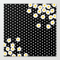 daisy Canvas Prints featuring DAISY by Monika Strigel