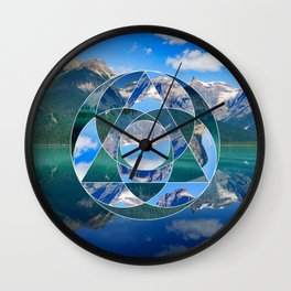 Geometric Landscape Photo Collage Wall Clock