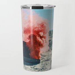 PINK SMOKE - SUIT CASE Travel Mug