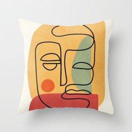 Abstract Face 20 Throw Pillow