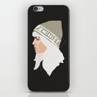 feminist iPhone & iPod Skins featuring Feminist (Silver) by Anna McKay