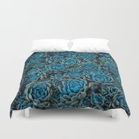 succulents Duvet Covers featuring Succulents by Kim Bajorek