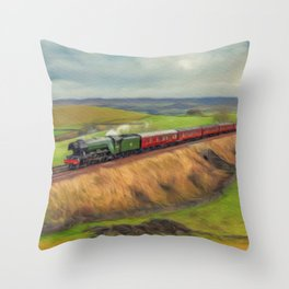 The Flying Scotsman Locomotive Throw Pillow