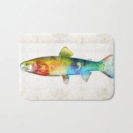 Rainbow Trout Art by Sharon Cummings Bath Mat