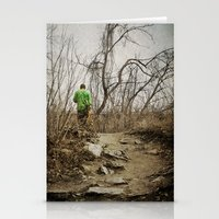 skateboard Stationery Cards featuring Skateboard Stroll by Kimberley Britt