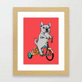 Frenchie Ride Framed Art Print
