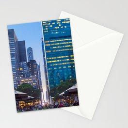 Bryant Park New york at dusk Stationery Cards