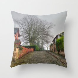 Cobbled Street, Lincoln. Throw Pillow