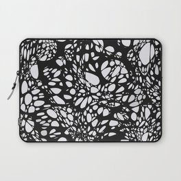 WEB black abstract lines on white background Laptop Sleeve