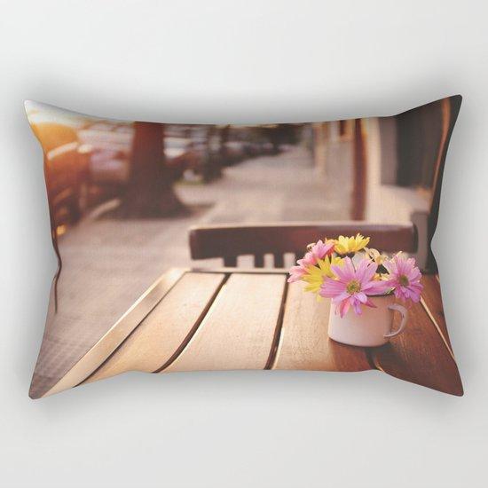 Flowers in the street Rectangular Pillow