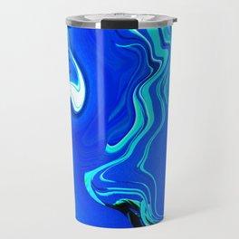Blue Blob Foe Travel Mug