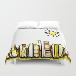 Good Morning World Duvet Cover