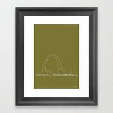 St. Louis by Friztin Framed Art Print