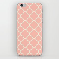 MOROCCAN {CORAL & OFF WHITE } iPhone & iPod Skin