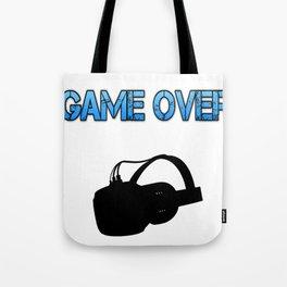 VR Game Over Blue Tote Bag