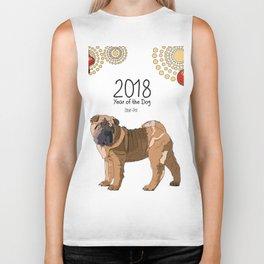 Year of the Dog Shar Pei Biker Tank