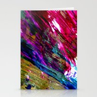 the strokes Stationery Cards featuring paint strokes by Hannah