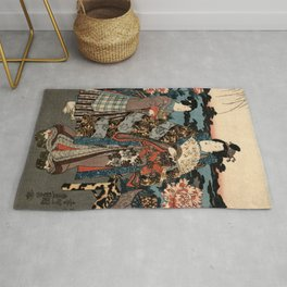 Garden of the Prosperous Blooms Triptych 2 Rug