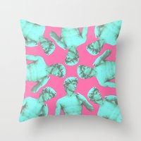 lucas david Throw Pillows featuring David by Calepotts