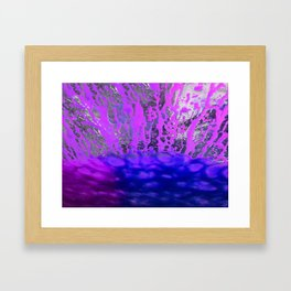 Pink and Blue Spray Pattern Framed Art Print