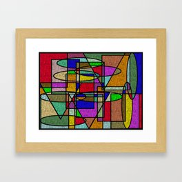 Abstract Stained Glass Framed Art Print
