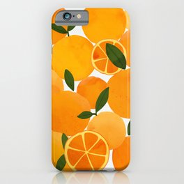 mediterranean oranges still life  iPhone Case