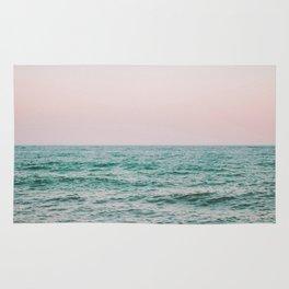 blush ocean Rug