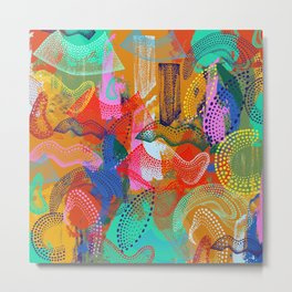 The Stipple Dots Abstract Metal Print