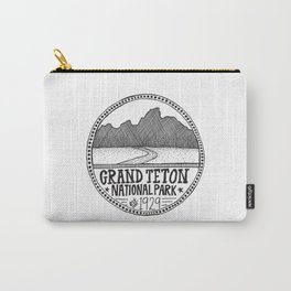 Grand Teton National Park Illustration Carry-All Pouch