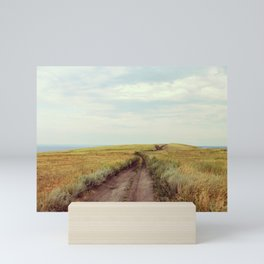 Rustic photo. Country road photography. Summer landscape. Nature poster Mini Art Print