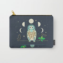 Barred Owl + Brown Bats Carry-All Pouch