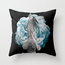 She Takes on the World Throw Pillow