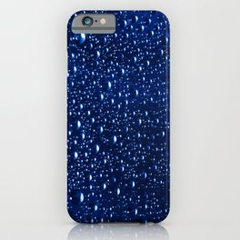 Colorful abstract wallpaper, waterdrops over multicolor background iPhone Case