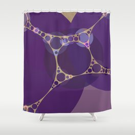 addison - royal purple shades grape heather pale gold abstract Shower Curtain