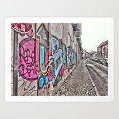 Faro street, Portugal. Portugal Series  Art Print