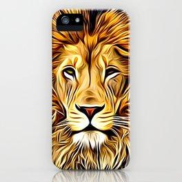 Lion head digital art iPhone Case