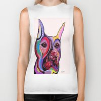 doberman Biker Tanks featuring Doberman by EloiseArt