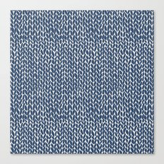 Hand Knit Navy Canvas Print