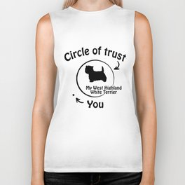 Circle of trust my West Highland White Terrier Biker Tank
