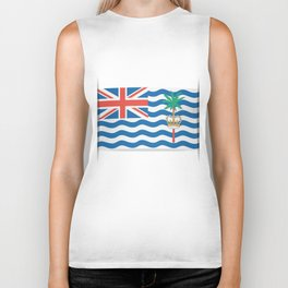 Flag of British Indian Ocean Territory. The slit in the paper with shadows. Biker Tank