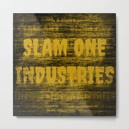 Slam 1 Industries Dirty Gold Metal Print