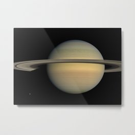 Space: Saturn, Voyager 1 Metal Print