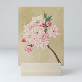Fukurokuju - God of Longevity Cherry Blossoms Mini Art Print